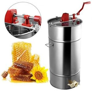 Goplus 2-Frame Large Manual Honey Extractor
