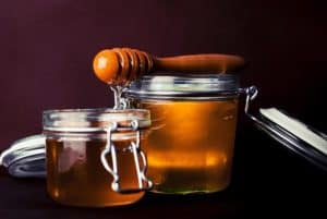 Jars of natural honey