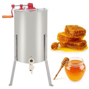 Zeny Pro 2-Frame Stainless Steel Manual Honey Extractor