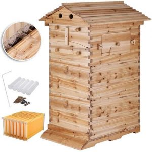 Happybuy 3-Layer BeeHive Box Starter Kit 7-Pcs Auto-Flow