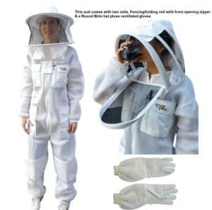 OZ ARMOUR Beekeeping Suit Ventilated Double mesh with Fencing Veil