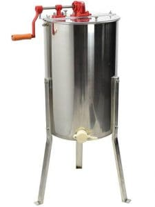 VIVO Large 2-Frame Stainless Steel Manual Honey Extractor (BEE-V002)